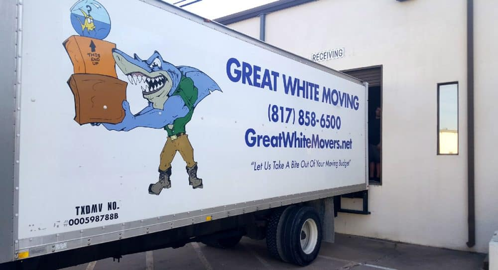 Fort Worth moving company trailer