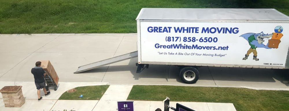 Fort Worth movers hard at work