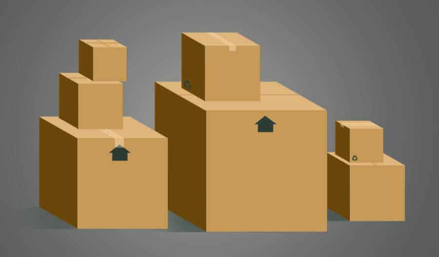 Illustration of packing boxes