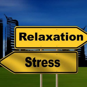 Illustrated relaxation and stress signs
